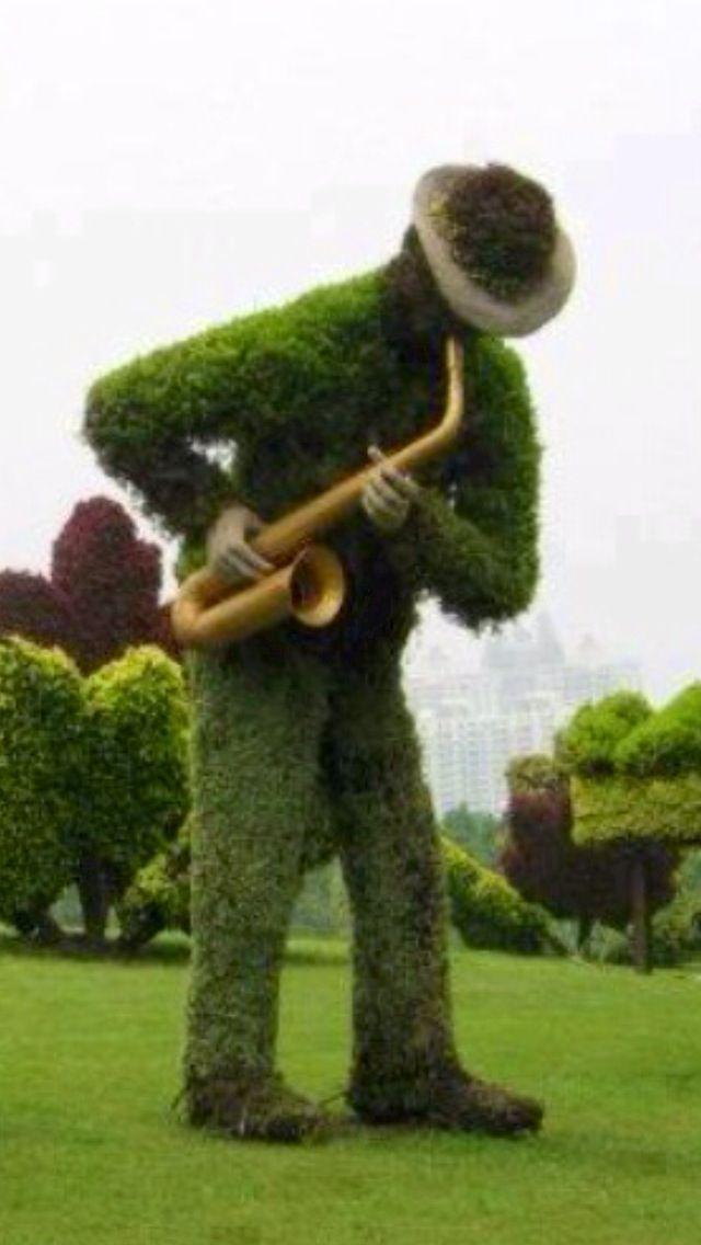 Jazz man Garden Sculpture - | Topiary | Pinterest | Garden ...