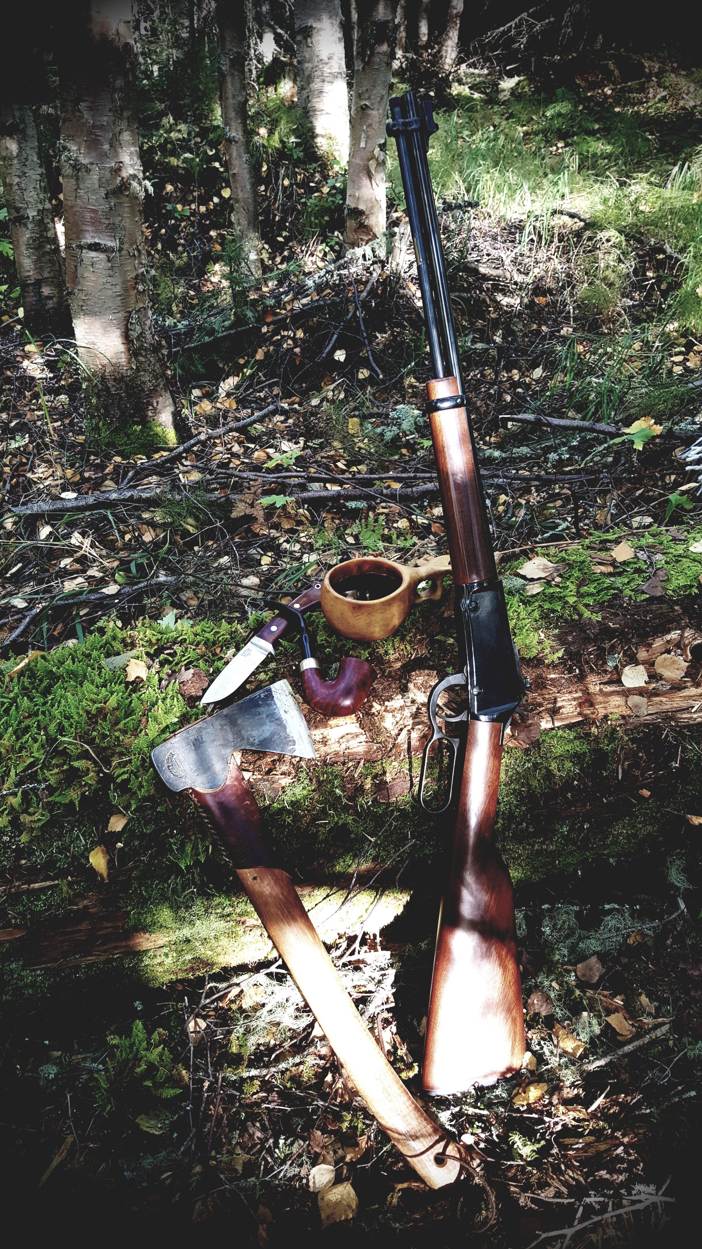 GB hunters axe, Bark River classic drop point hunter