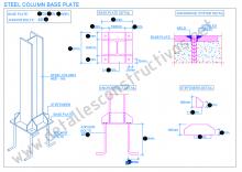 Steel Column Base Plate In 2020 Steel Columns Column Base Concrete Retaining Walls