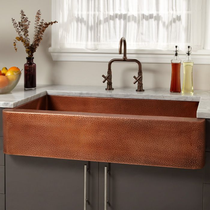 Extra Large Single Bowl Copper Farmhouse Sink Copper Farmhouse Sinks Farmhouse Sink Kitchen Copper Kitchen Sink