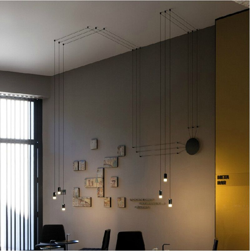 Aliexpress.com : Buy Modern creative Polyhedron Geometric Lines DIY led pendant lamp 1/3/6/9 heads magic pendant light for living room restaurant from Reliable lamp light switch suppliers on Light up future co.,Ltd | Alibaba Group