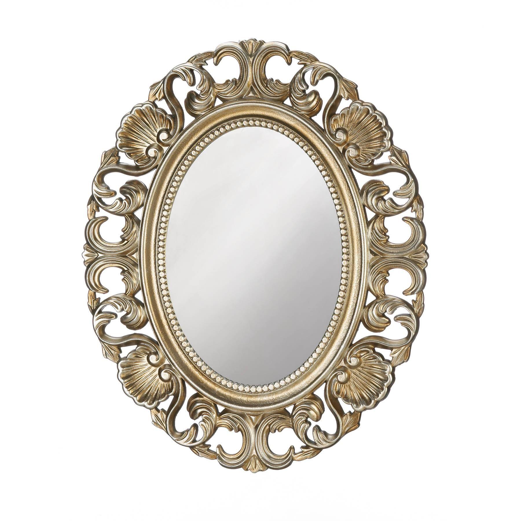 Golden Scallop Wall Mirror Stellasaksa Antique Mirror Wall Gold Mirror Wall Oval Wall Mirror