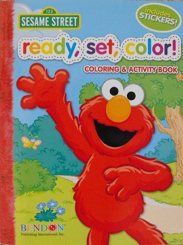 Sesame Street Ready Color Set Coloring and Activity Book with 30 Stickers 144 Pages BendonPublishing