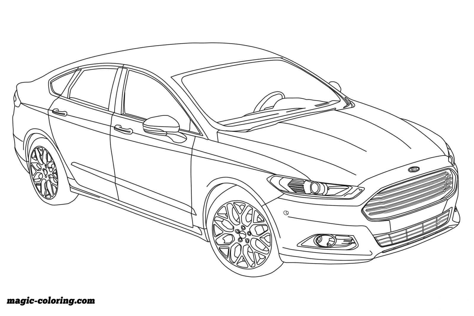 2015 Ford Fusion Coloring Page Cars Coloring Pages Coloring Pages Fusion Colors