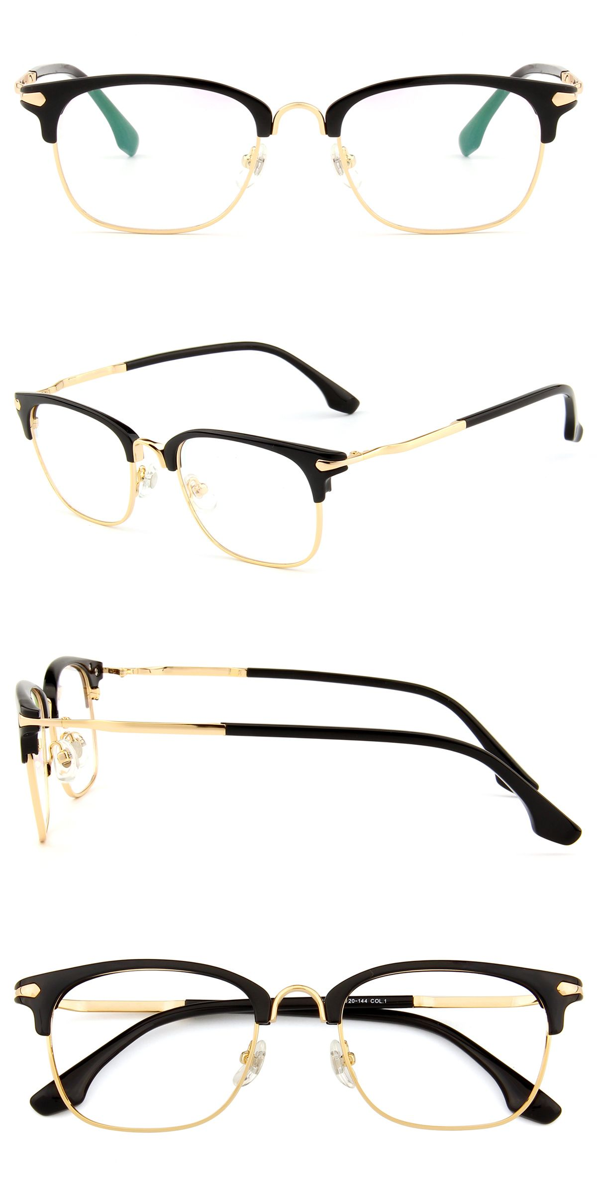 8310 Black And Gold Glasses