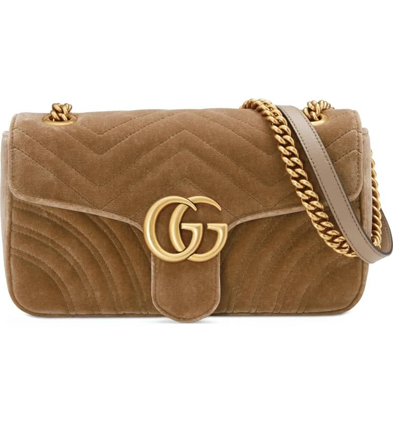 b60fca3e29b00 Medium GG Marmont 2.0 Matelassé Velvet Shoulder Bag