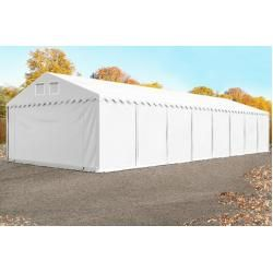 Photo of Storage tent 5×24 m – 2.6 m side height, Pvc 550 g / m², with floor frame, fireproof white   without statics U
