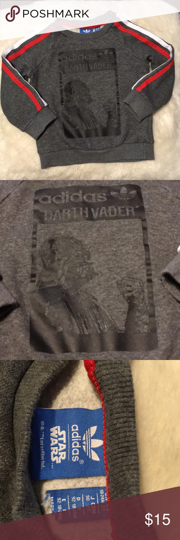 Adidas X Star Wars Boys Sweatshirt Darth Vader Boys Sweatshirts Womens Sweatshirts Fashion Sweatshirt Street Style [ 1740 x 580 Pixel ]