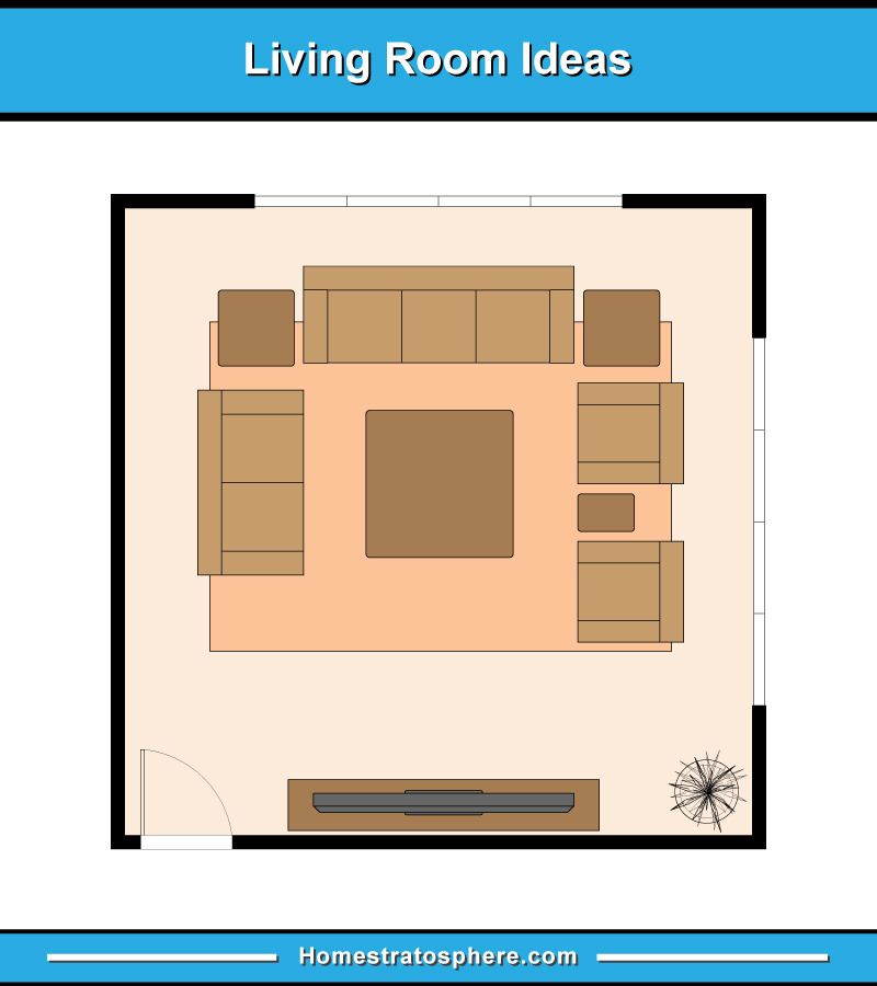 13 Living Room Furniture Layout Examples Floor Plan Illustrations