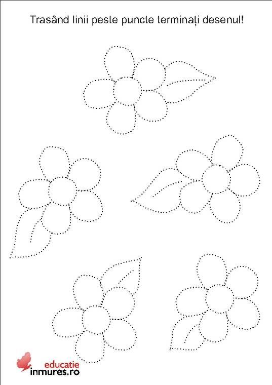 Flower Trace Crafts And Worksheets For Preschooltoddler And