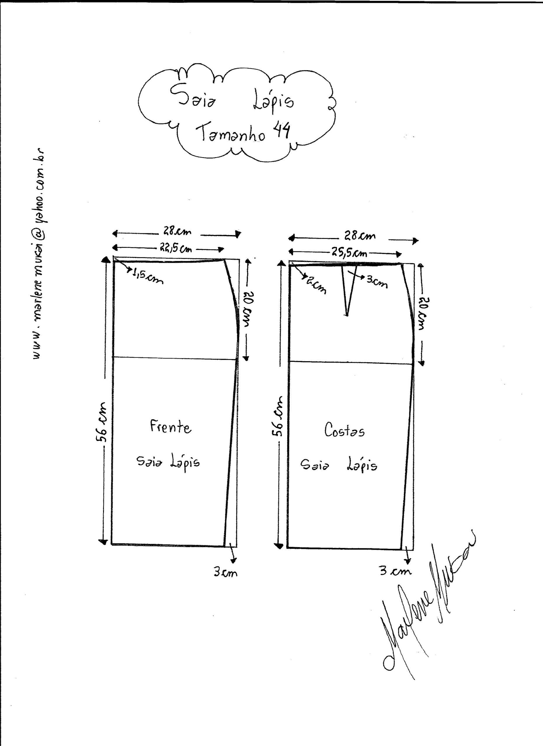Saia Lápis   costura   Pinterest   Pattern, Sewing patterns and Sewing