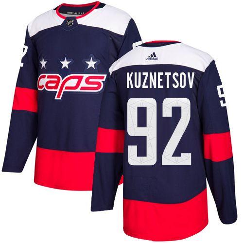 66d2f0e5d97 Adidas Capitals #92 Evgeny Kuznetsov Navy Authentic 2018 Stadium Series  Stitched Youth NHL Jersey