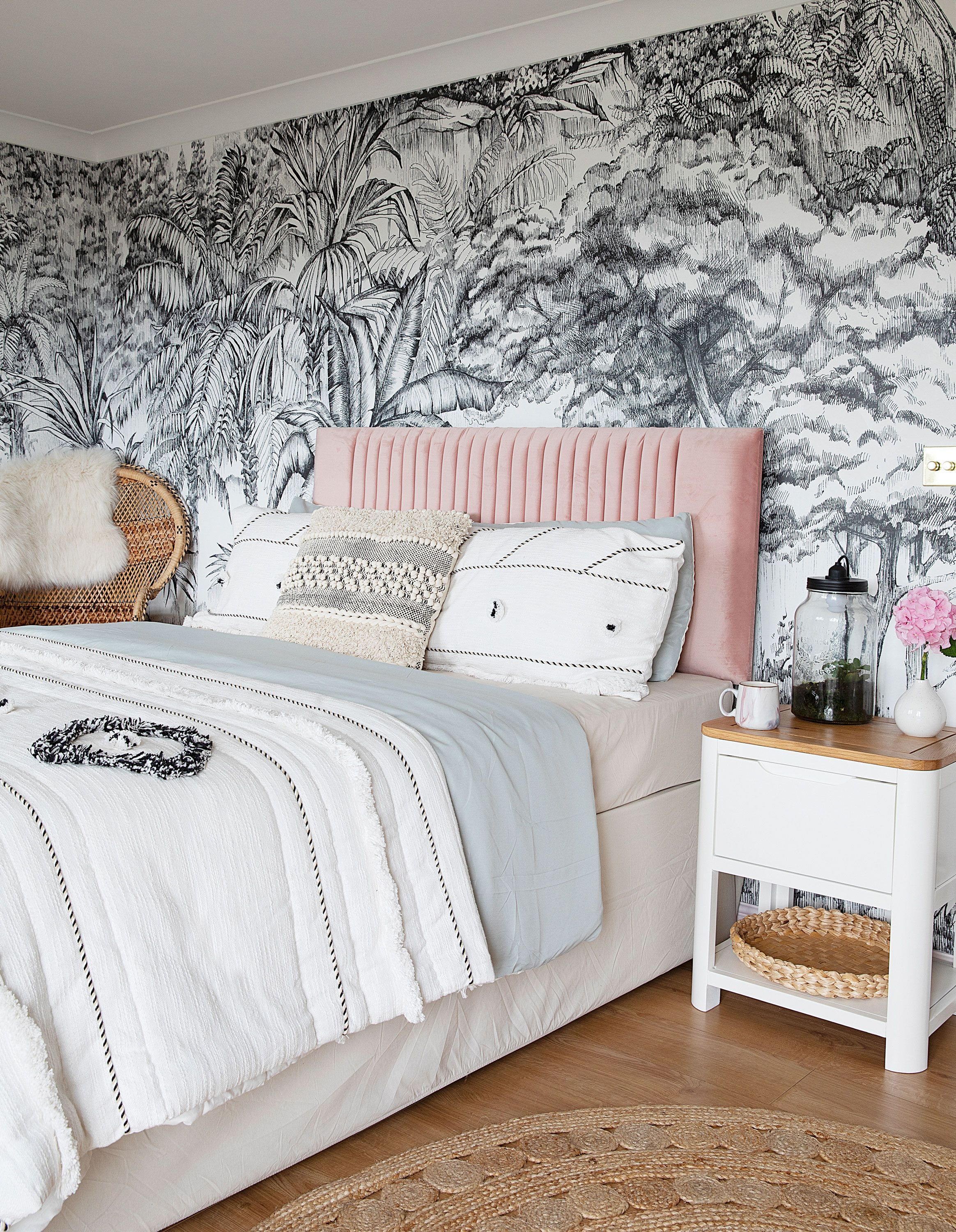 Townhouse Makeover Transforms Old Family Home Wallpaper Design For Bedroom Wallpaper Bedroom Beautiful Bedroom Inspiration Bedroom wallpaper cape town