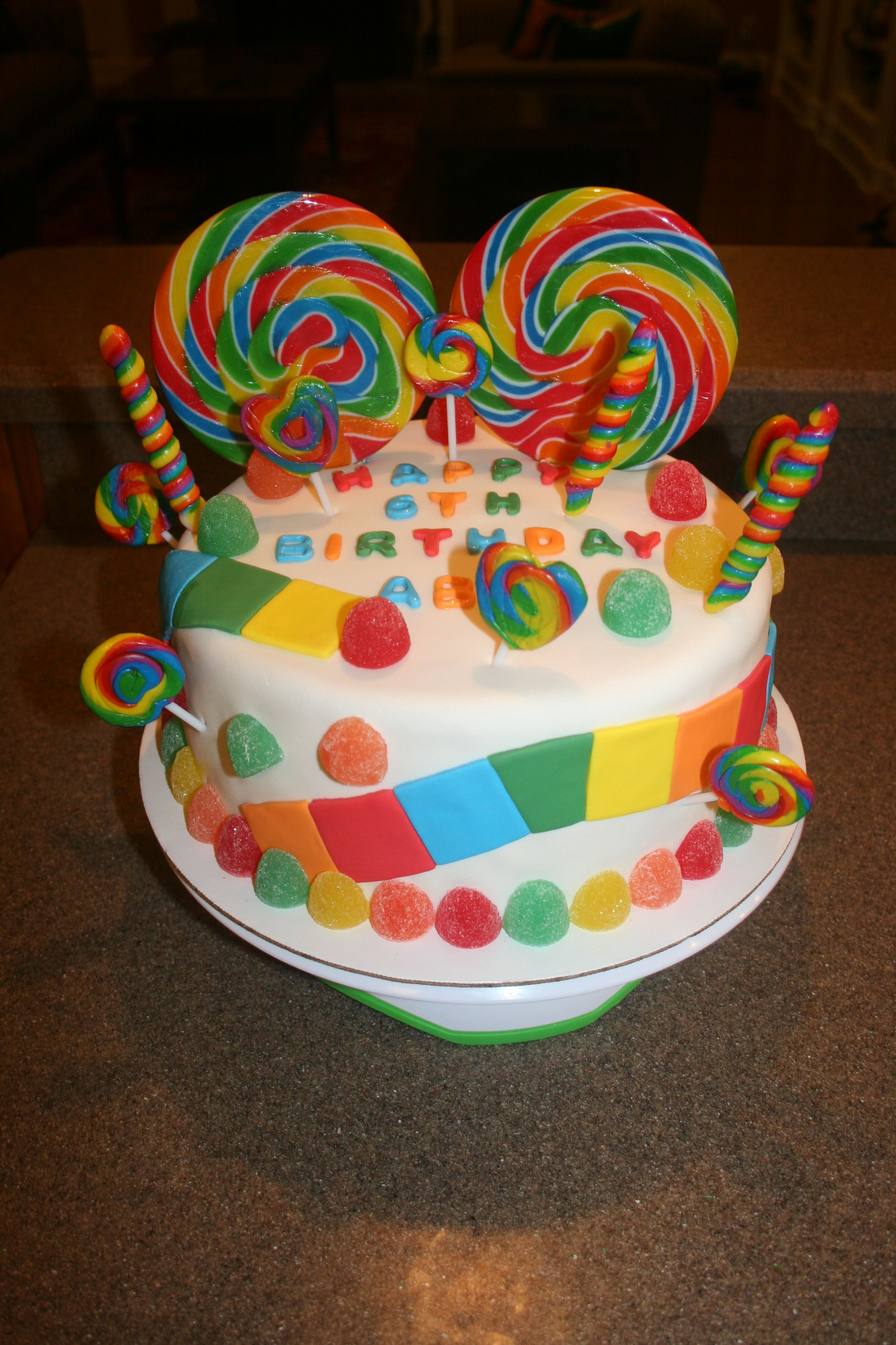Candyland / Candy Birthday Cake http://www.facebook.com ...
