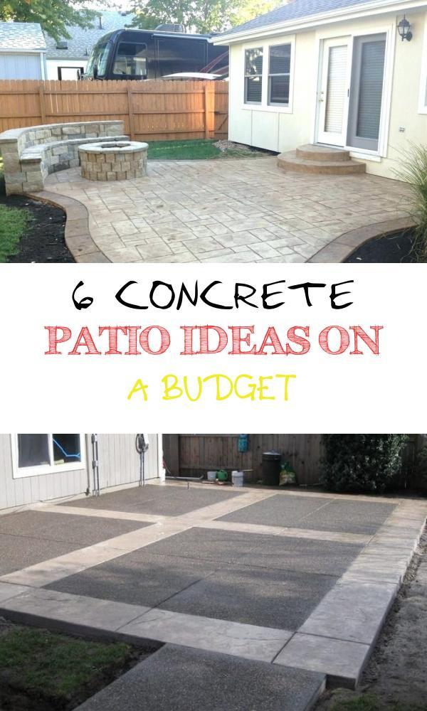 6 Concrete Patio Ideas On A Budget Balloondir Budget Patio Diy Backyard Patio Concrete Patio