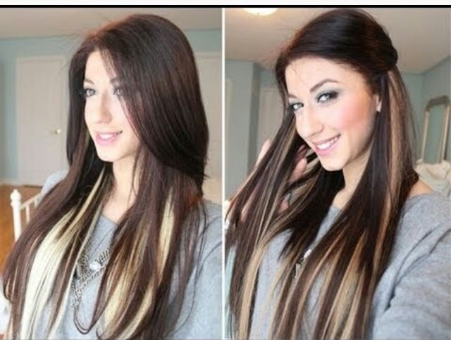 Pictures of dark hair with highlights dark hair dark and blonde pictures of dark hair with highlights dark hair dark and blonde peekaboo highlights solutioingenieria Choice Image