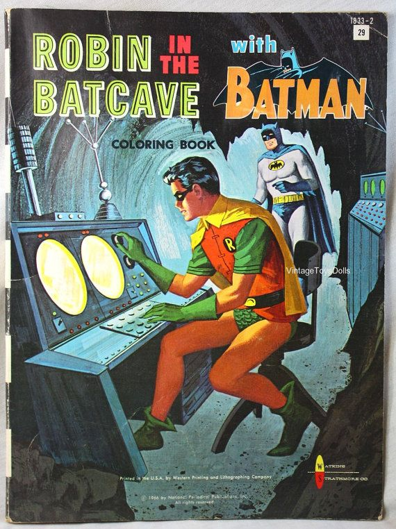 Vintage Batman Coloring Book Robin In The By VintageToysDolls