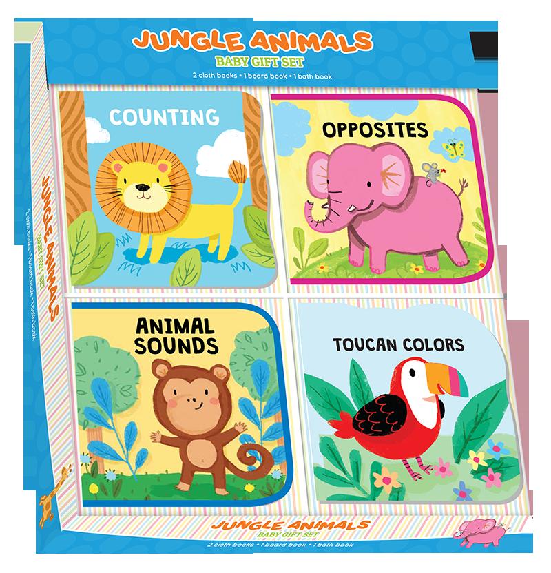 Jungle Animals Baby Gift Set (Kidsbooks) - Babies will be