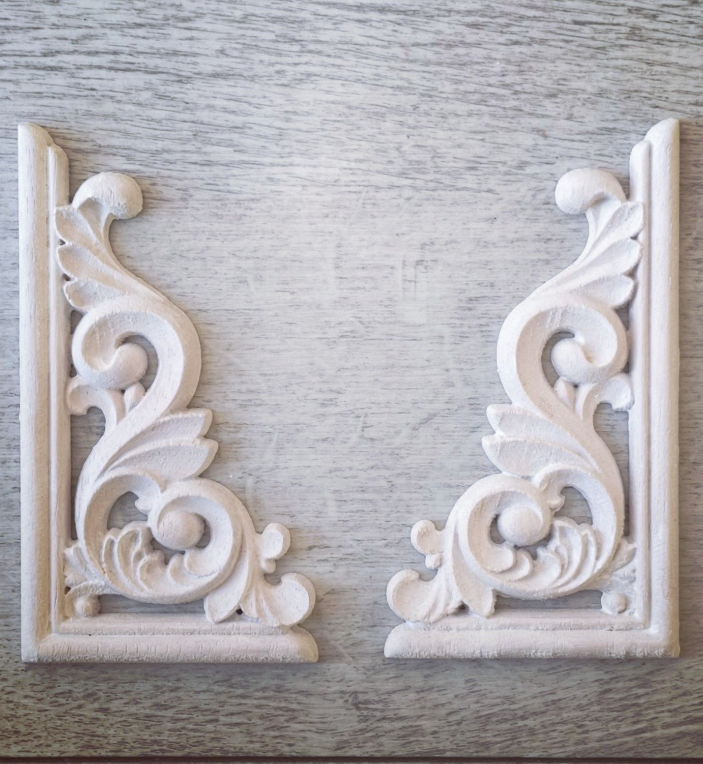 Shabby Chic Moulds Vintage Furniture Applique Wood Appliques And Onlays For Furniture Wood Pediment Cabinet Moulds Wood Applique Moulds In 2020 Ornate Swirl Shabby Chic Diy Ornate Furniture