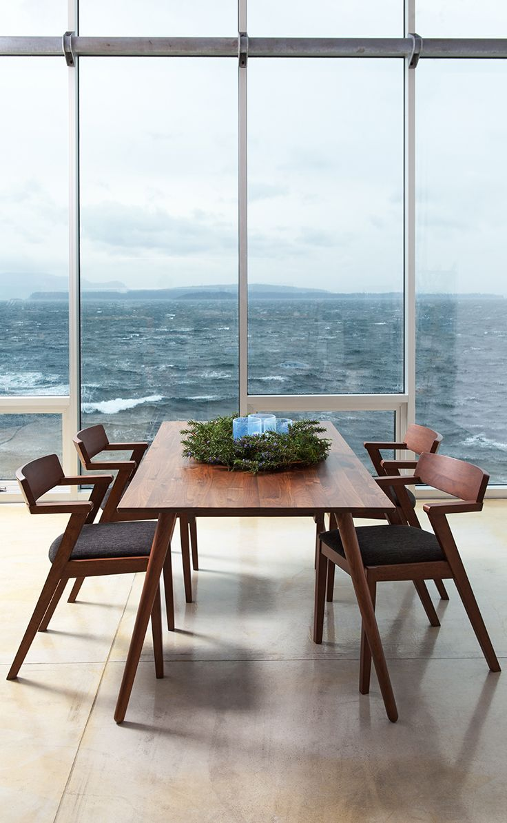 Room with a view. SENO dining table + ZOLA chairs | Salles À Manger ...