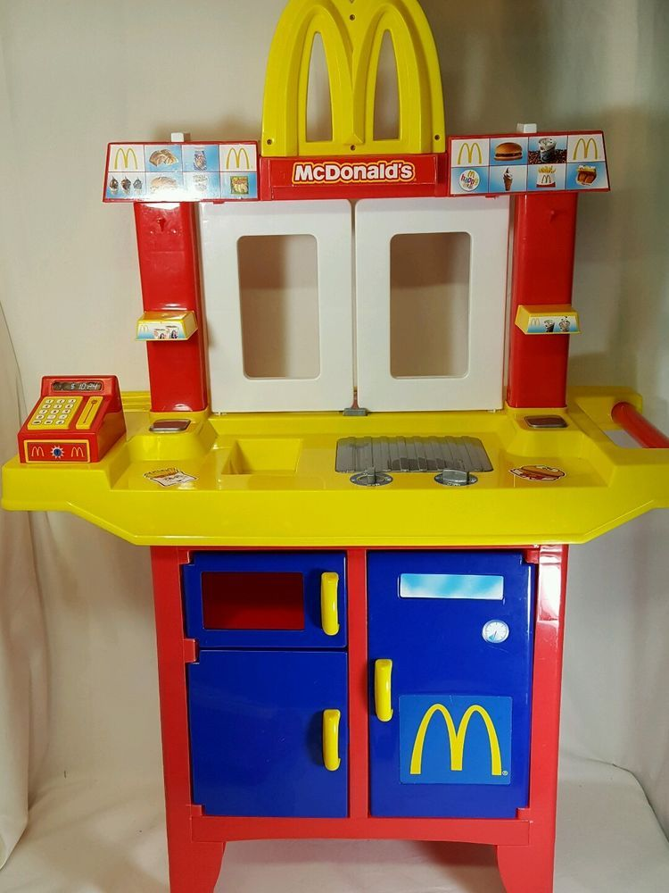Mcdonalds Drive Thru Playset With Cash Register Food And