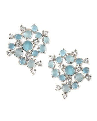 Paul Morelli Aquamarine & White Diamond Bubble Cluster Earrings akxfCr