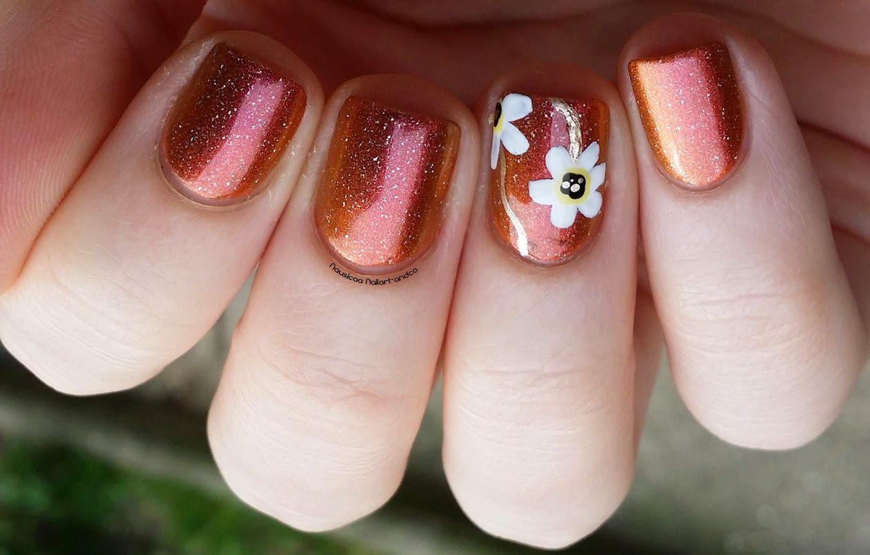 Nail Art and Co: Solar Flare // Petites fleurs | Uñas