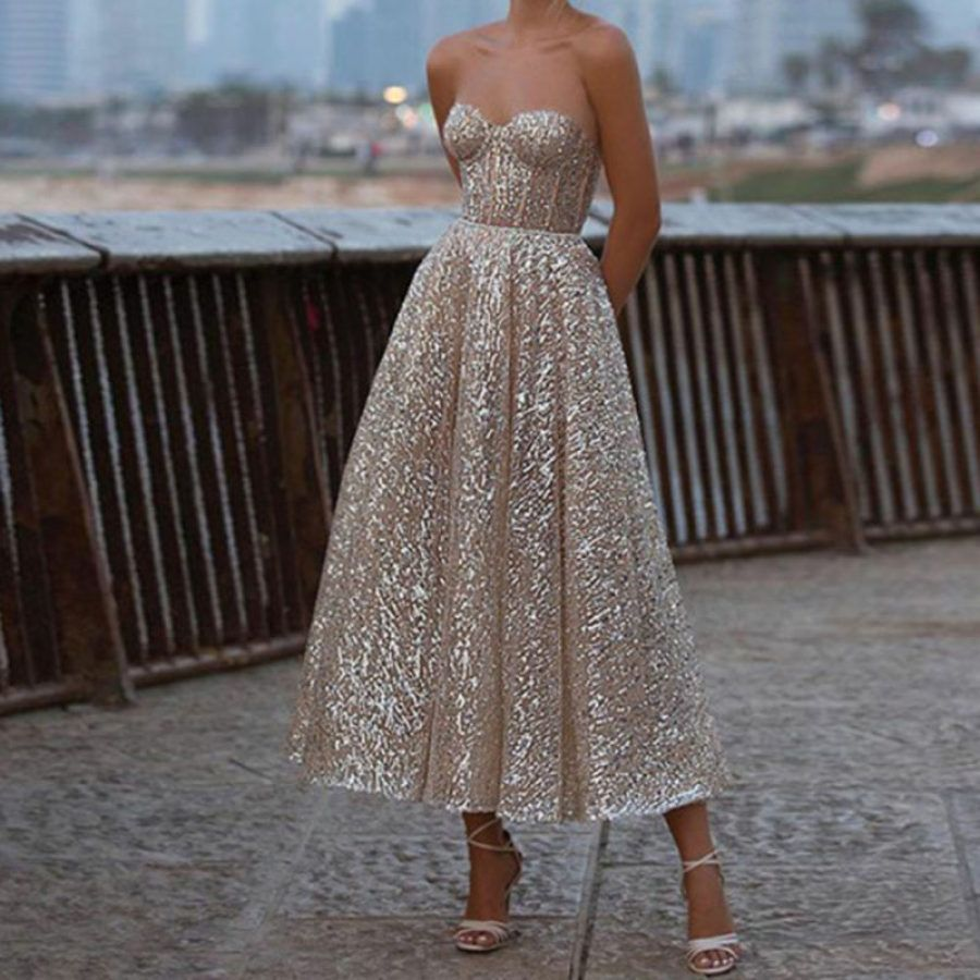 Elegant Star Tube top Evening Dress in 20   Evening dresses ...