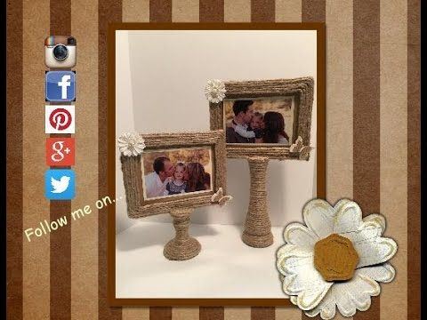 diy picture stand made from two dollar tree items - Dollar Tree Photo Frames