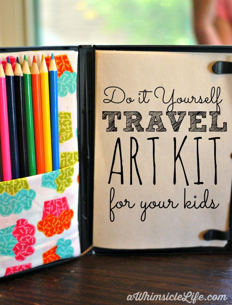 Kids travel art kit pinterest fabric glue road trips and knives pack this in your purse and your kids will be entertained easily during road trips or at restaurants this coloring kit is super simple to make yourself and solutioingenieria Choice Image