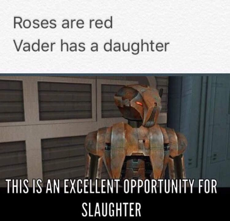 Hk 47 Is Truly A Poet Funny Star Wars Memes Star Wars Memes Star Wars Empire