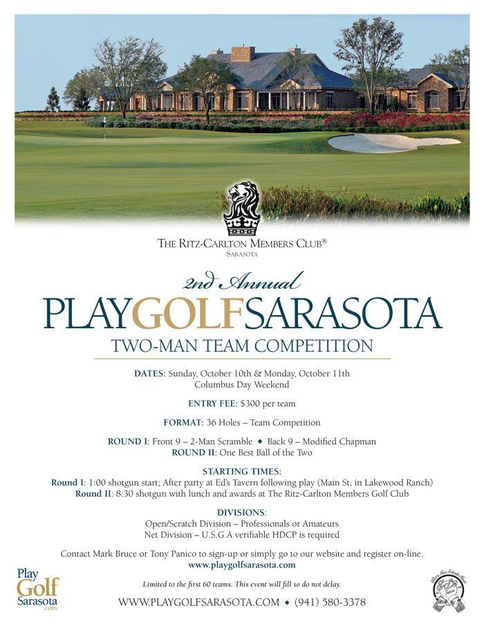 Client Play Golf Sarasota Project Golf Tournament Flyer Eblast Location Lakewood Ranch Fl Columbus Day Weekend Fun To Be One Sarasota