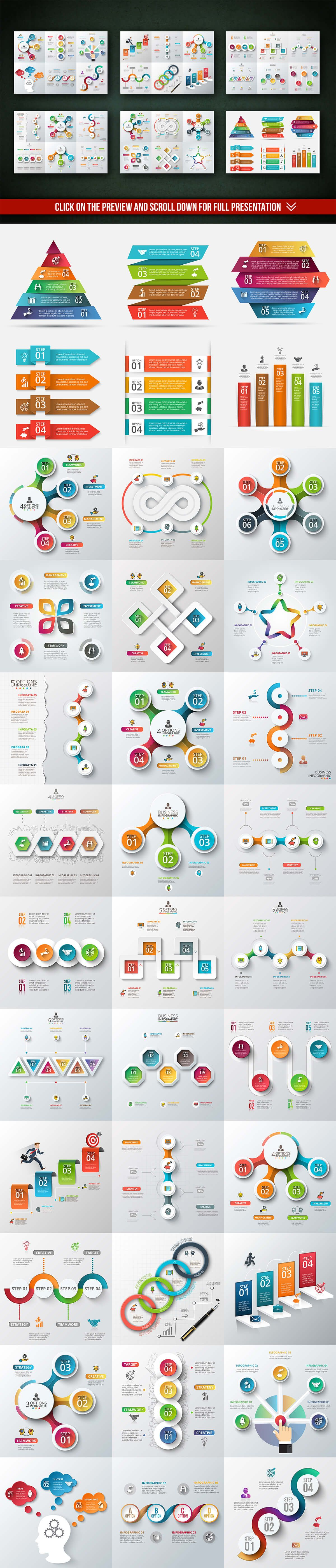 best infographic template bundles | blogging and content marketing, Powerpoint templates