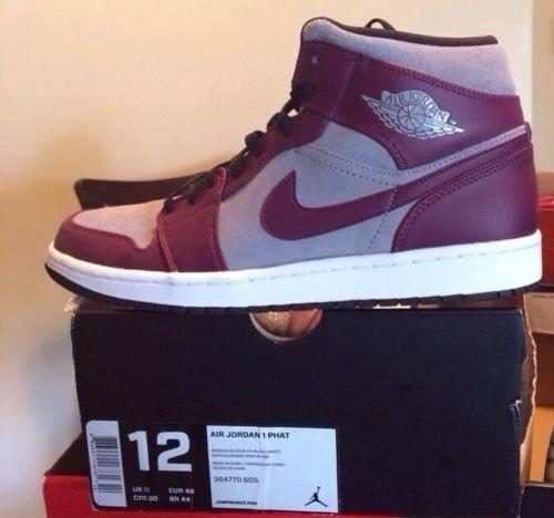 NIKE AIR JORDAN 1 PHAT BORDEAUX-STEALTH SZ 12 364770-605 Brand New Retro 3  4 5  Shoes  Nike  Deal 00688d8ba