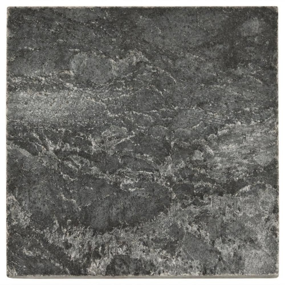 Silver Gray Polished Slate Tile - 4in. x 4in. | Floor and Decor ...