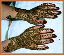 The site also has a bit about symbols in mehndi art.