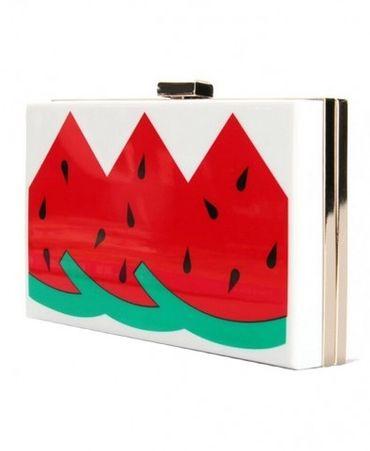 Fun watermelon clutch! Print Semitransparent Acrylic Shoulder Bag