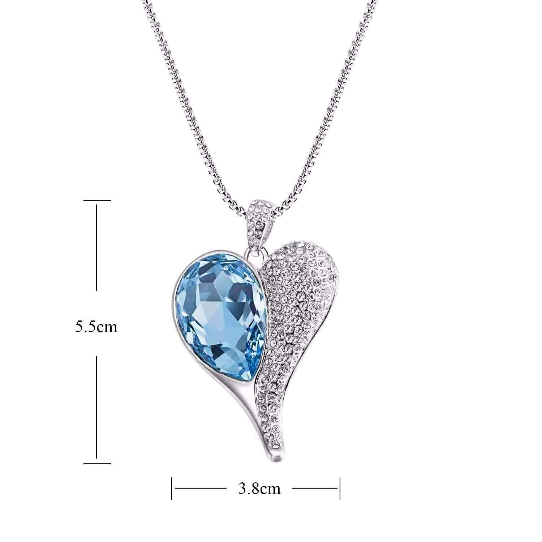Birthday gift swarovski elements crystal heart shape