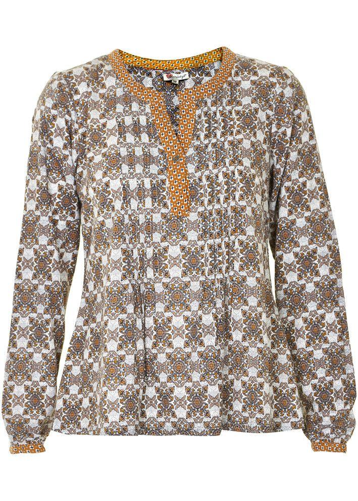Cream Bluse print 10600812 Celina Blouse dress blues – Acorns