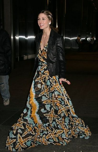 O.P. long dress with a leather jacket :)