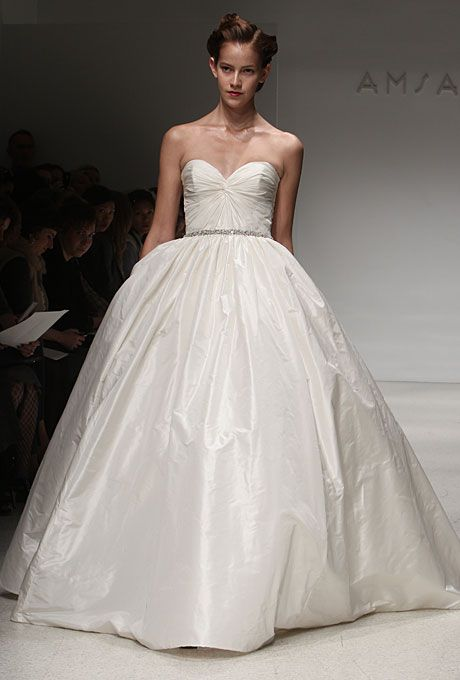 Brides Am Fall 2017 Mackenzie Strapless Silk Taffeta Ball Gown Wedding Dress With A Knotted Sweetheart Bodice And Beaded Belt