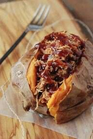 Sweet potato with pulled pork
