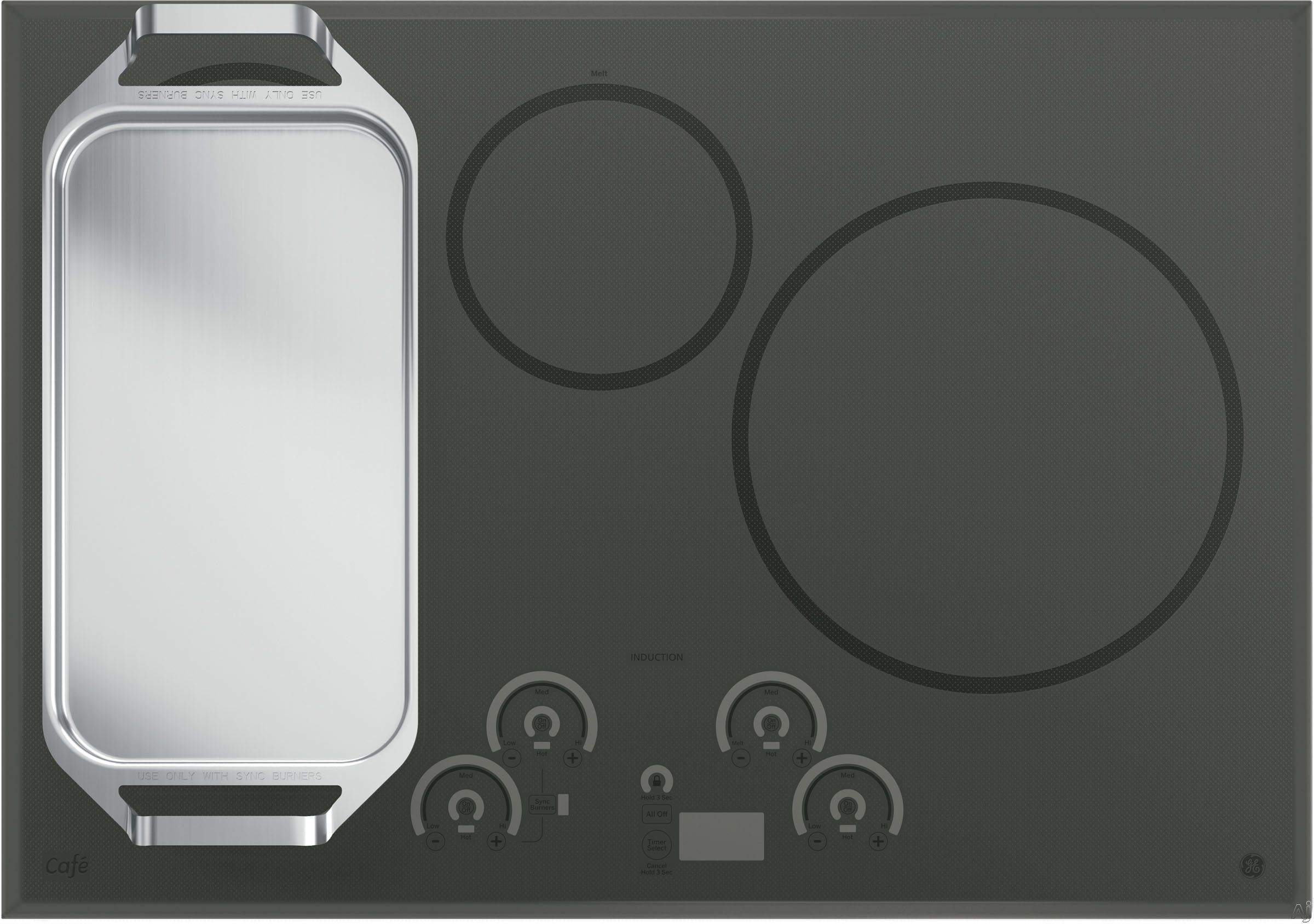 Says Grey Glass Ge Chp9530sjss 30 Induction Cooktop With 4