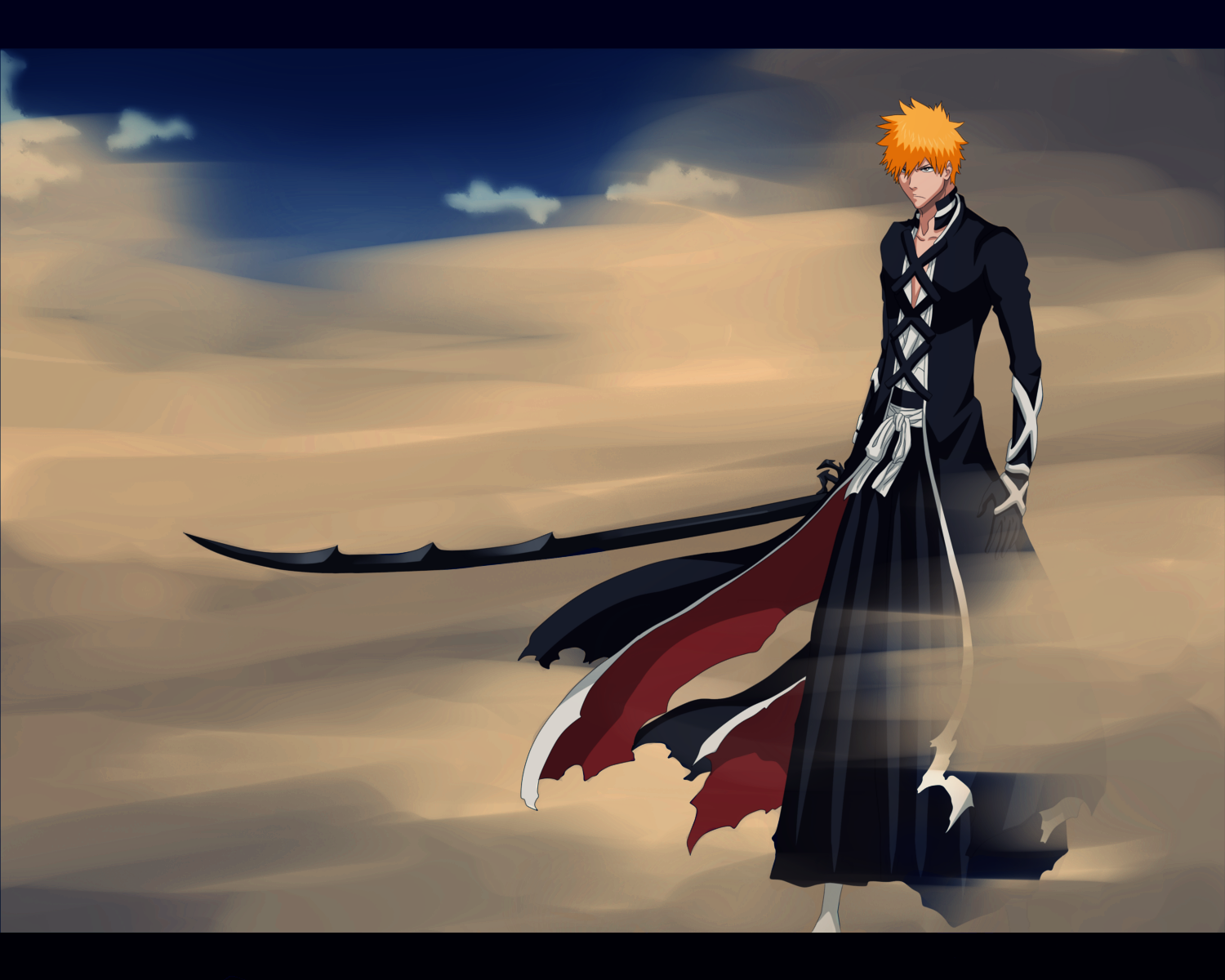 Ichigo S Tremendous Strength And Force Was Nothing Short Of Amazing It Proved To Be Something That Even Aizen Cou Ichigo Bankai Bleach Anime Bleach Characters
