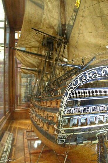 Modelo del Navío Real Borbón. 112 cañones. 1818.