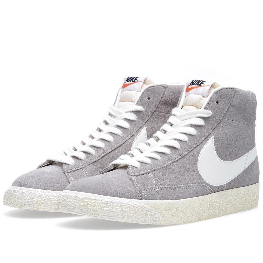 Nike Blazer Daim Mi Cru - Gris Moyen / Voilier magasin pas cher u8zGO2of