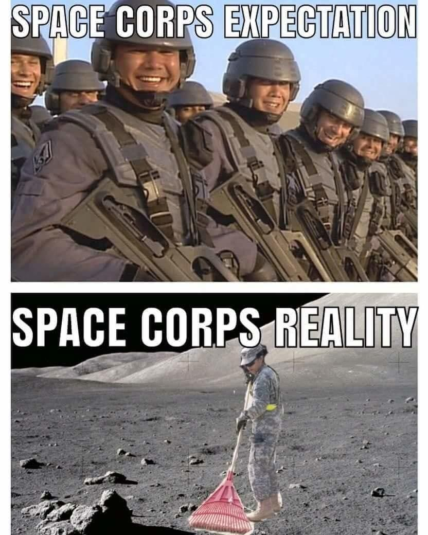 Expectation Vs Reality United States Space Force Military Memes Military Jokes Funny Pictures