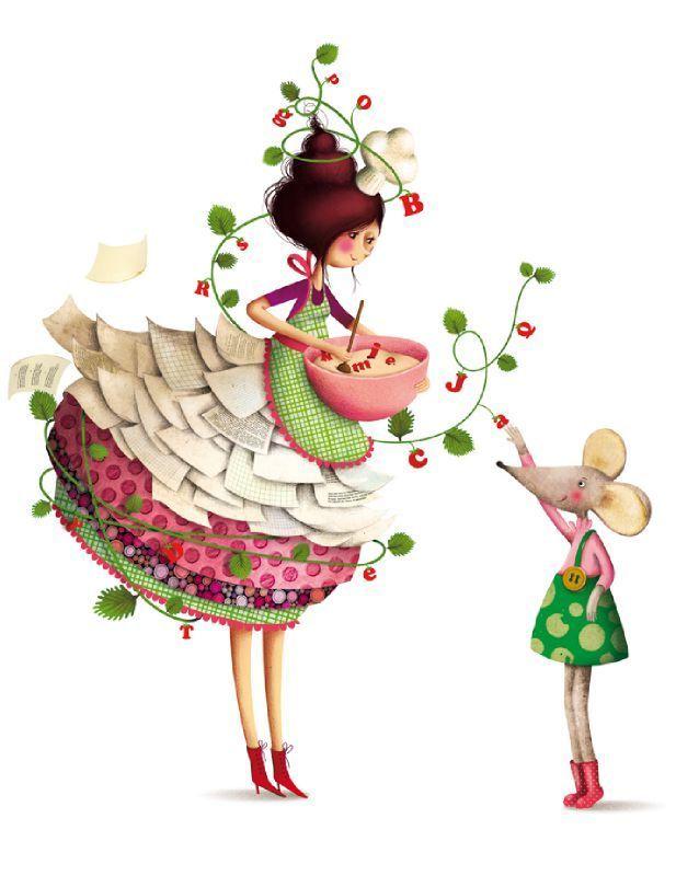 Детство мое - Cute Illustrations by Marie Desbons!