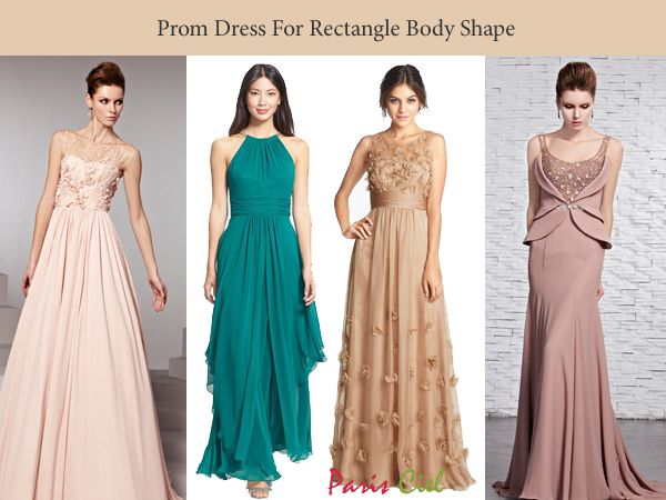 Prom Dress For Rectangle Body Shape Type Clothes