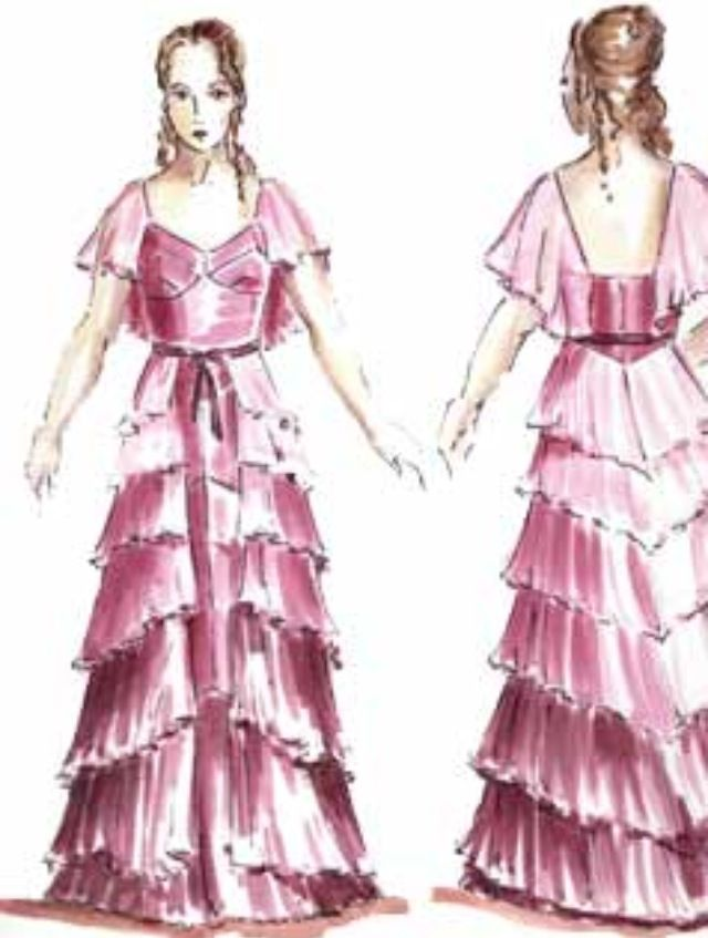 Concept art of Hermione Granger in Yule Ball gown from \